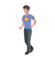 super dad isolated vector image