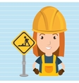 woman worker construction vector image