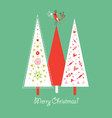 Decorative winter tree vector image