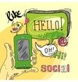 Speech bubble social vector image