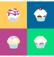 4 Muffin Collection vector image vector image