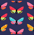 abstract hand drawn butterfly seamless pattern vector image vector image