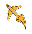airplane flying icon image vector image vector image
