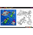 alien characters coloring page vector image vector image