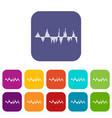 audio digital equalizer technology icons set vector image vector image