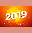 banner with 2019 numbers vector image vector image