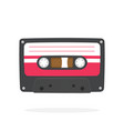 black retro audio cassette in flat style vector image