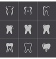 Black teeth icons set