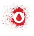 blood icon vector image vector image