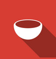 bowl icon isolated with long shadow vector image vector image