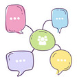 bulb chat diagram vector image vector image