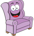 Cartoon Happy Chair vector image vector image