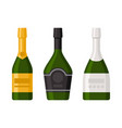 champagne bottles set on white background vector image vector image