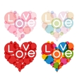 color heart set vector image