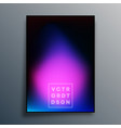 colorful gradient texture poster design vector image