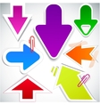 colorful paper arrows vector image vector image