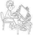 computer user vector image