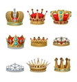 Crown Icon Set vector image vector image