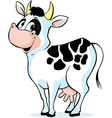 cute cow standing isolated on white background vector image vector image