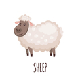 Cute sheep in flat style vector image vector image