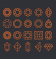 diamond shapes set vector image vector image