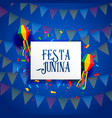 Festa junina celebration background design vector image
