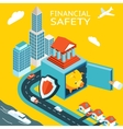 Financial safety and money making vector image vector image