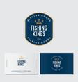 fishing kings logo hooks like a crown vector image vector image