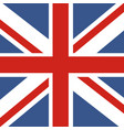 flag great britain official uk flag the vector image