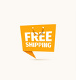 free shipping food or goods isolated vector image vector image