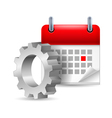 Gear wheel and calendar vector image