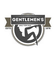 gentleman exclusive club vintage label vector image vector image