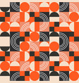 geometric pattern in bright color blocks vector image vector image