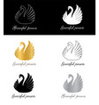 graceful person sign symbol for fashion brand vector image vector image