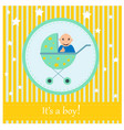 greeting card to newborn baby it s a boy vector image