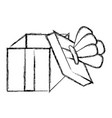 grunge open present box with crown style vector image vector image