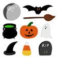halloween graphic elements vector image vector image