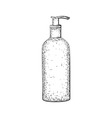 Hand drawn bottle or tube vector image vector image