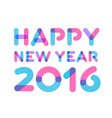 Happy new year 2016 greeting card design vector image vector image