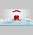 happy new year and merry christmas christmas red vector image vector image
