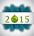 Happy New Year background with fir twigs - vector image vector image