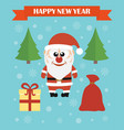 happy new year modern concept flat design card vector image vector image