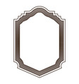 heraldic silhouette decorative badge frame in vector image vector image