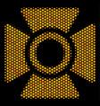 hexagon halftone searchlight icon vector image vector image