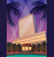 hotel casino resort vector image vector image
