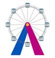 isolated ferris wheel icon vector image