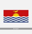 kiribati national country flag banner icon vector image