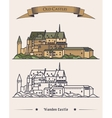 Luxembourg Vianden old castle on mountain vector image vector image