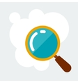 Magnifying glass research concept in flat style vector image