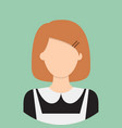 maid characte icon great of character use for vector image